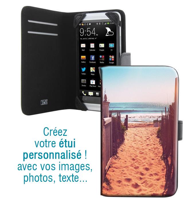 Housse portefeuille avec photo pour iPhone 5S